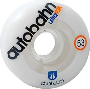 Autobahn 53 mm 97a/101a Dual Durometer Ultra Clear White Skateboard Wheels