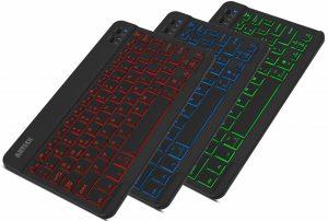 Arteck HB030B Universal Slim Portable Wireless Bluetooth Colors Backlit Keyboard