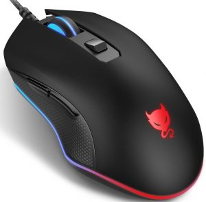 Redimp Wired Mouse 6-Buttons Ergonomic Computer Gaming Mice